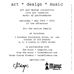 flyer ~ clinyc art * design * music with Manyc Records ~ clinyc ~ 2012-05-19 ~ sputnyc