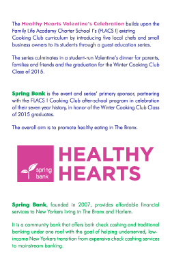 poster ~ Healthy Hearts Valentine's Celebration ~ clinyc ~ 2015-02-27 ~ Spring Bank presents the Healthy Hearts Valentine's Celebration ~ sputnyc