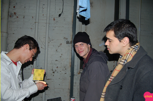 photo ~ Todd, Olivier (sdbase, Tramponaline, Manyc Records), Rangit Magasweran (electronyc) ~ 2006-01-01 ~ New Year's Eve 2006 Celebration ~ sputnyc