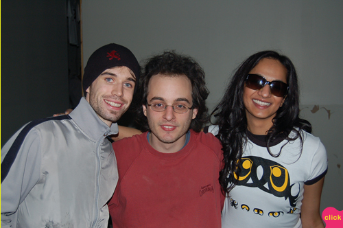 photo ~ Rob, Philip Shearer (Tramponaline, Manyc Records), Charita Sinha ~ 2006-01-01 ~ New Year's Eve 2006 Celebration ~ sputnyc