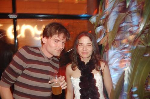 photo ~ Victor, Nassima Khelifa ~ Arnaud Stebe ~ 2008-01-01 ~ New Year's Eve 2008 Celebration ~ sputnyc