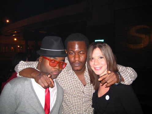 photo ~ Charles Tanoh, Youssouf Coulibaly, reveler ~ Chloe Puaux ~ 2008-01-01 ~ New Year's Eve 2008 Celebration ~ sputnyc