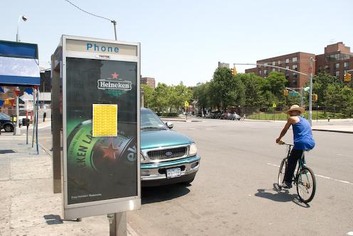 photo ~ sputnyc poster, cyclist ~ 2008-06-29 ~ Carnival ~ sputnyc