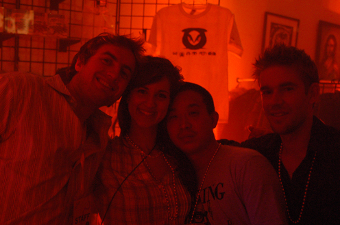 photo ~ Arnaud Stebe, Caroline Magasweran, Emeric Trang, Brett Sorem ~ Arnaud Stebe ~ 2010-01-01 ~ New Year's Eve 2010 Celebration 10th Anniversary Event ~ sputnyc