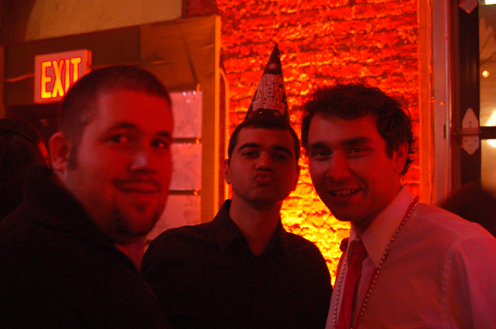 photo ~ Frederic Soustra, Rangit, Marc Perraud (nyc-o-time) ~ Arnaud Stebe ~ 2010-01-01 ~ New Year's Eve 2010 Celebration 10th Anniversary Event ~ sputnyc