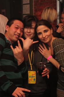 photo ~ Emeric, Akiko Isomoto (clinyc), Nassima Khelifa ~ Nicholas Benik ~ 2010-01-01 ~ New Year's Eve 2010 Celebration 10th Anniversary Event ~ sputnyc