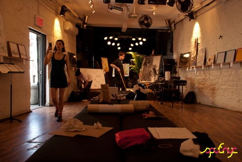 photo ~ before the crowd ~ Akiko Isomoto ~ 2012-05-19 ~ sputnyc presents clinyc art * design * music with Manyc Records ~ sputnyc