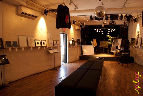 photo ~ Backroom transformation complete ~ Akiko Isomoto ~ 2012-05-19 ~ sputnyc presents clinyc art * design * music with Manyc Records ~ sputnyc
