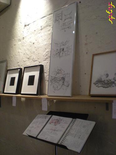 photo ~ pieces by Patrick Carrara (clinyc), Akiko Isomoto (clinyc), Victor de Matha (clinyc) ~ Akiko Isomoto ~ 2012-05-19 ~ sputnyc presents clinyc art * design * music with Manyc Records ~ sputnyc
