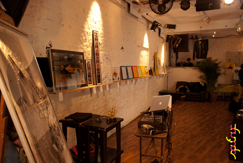 photo ~ stage perspective ~ Akiko Isomoto ~ 2012-05-19 ~ sputnyc presents clinyc art * design * music with Manyc Records ~ sputnyc