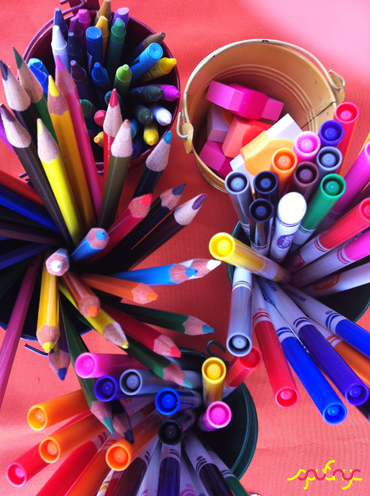 photo ~ let the coloring begin ~ Julia Livi ~ 2012-05-19 ~ sputnyc presents clinyc art * design * music with Manyc Records ~ sputnyc