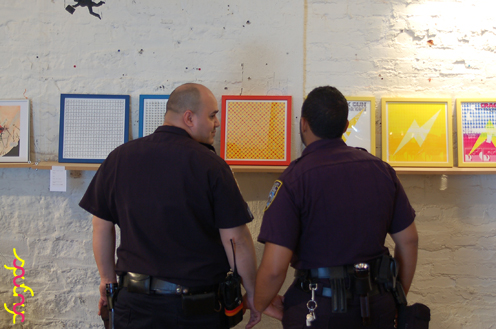 photo ~ officers from our local 40th Precinct ~ Arnaud Stebe ~ 2012-05-19 ~ sputnyc presents clinyc art * design * music with Manyc Records ~ sputnyc