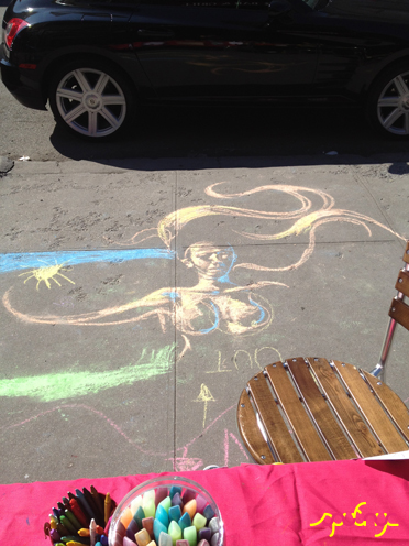 photo ~ chalk art ~ Gabrielle Archer ~ 2012-05-19 ~ sputnyc presents clinyc art * design * music with Manyc Records ~ sputnyc