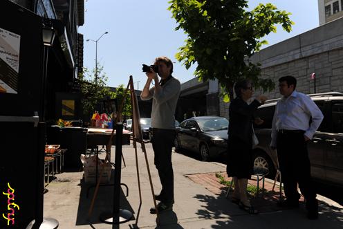 photo ~ Arnaud, Helene Macleod, David Macleod (nyc-o-time, Manyc Records) ~ Luis D Rosado ~ 2012-05-19 ~ sputnyc presents clinyc art * design * music with Manyc Records ~ sputnyc
