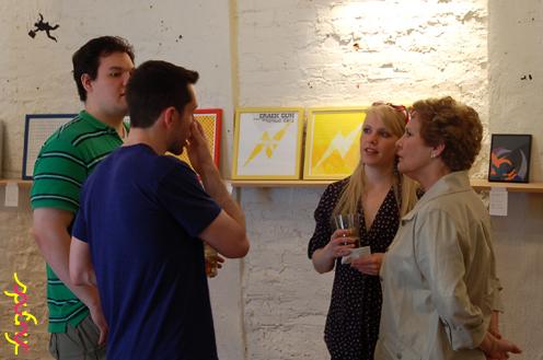 photo ~ John Wood, Justin Petitpas, Jacque Ryal, Judy Ryal ~ Arnaud Stebe ~ 2012-05-19 ~ sputnyc presents clinyc art * design * music with Manyc Records ~ sputnyc
