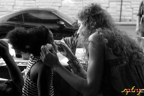 photo ~ face model, with Gabrielle Archer ~ Nikolitsa Boutieros ~ 2012-05-19 ~ sputnyc presents clinyc art * design * music with Manyc Records ~ sputnyc