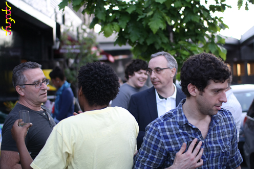photo ~ outdoor mingling ~ Jimmy Jaw ~ 2012-05-19 ~ sputnyc presents clinyc art * design * music with Manyc Records ~ sputnyc
