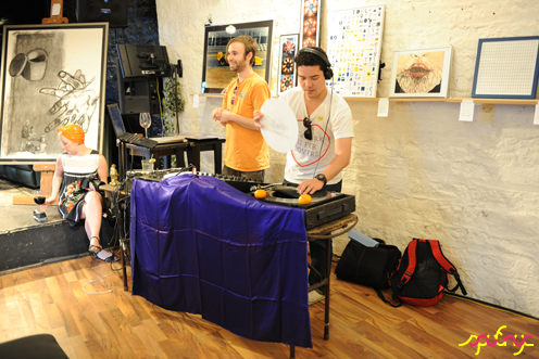 photo ~ Rob, Eddie ~ Luis D Rosado ~ 2012-05-19 ~ sputnyc presents clinyc art * design * music with Manyc Records ~ sputnyc