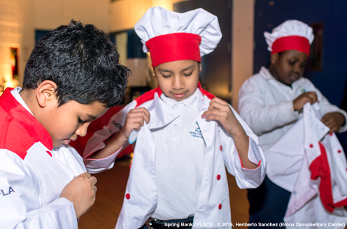 photo ~ and look at those chef hats! ~ Heriberto Sanchez ~ 2015-02-27 ~ Spring Bank presents Healthy Hearts ~ sputnyc