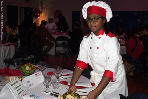 photo ~ serving dinner to guests ~ Rose Mercado (FLACS) ~ 2015-02-27 ~ Spring Bank presents Healthy Hearts ~ sputnyc
