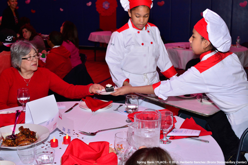 photo ~ junior chefs serving dessert ~ Heriberto Sanchez ~ 2015-02-27 ~ Spring Bank presents Healthy Hearts ~ sputnyc