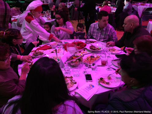 photo ~ guests enjoying dinner ~ Paul Ramirez ~ 2015-02-27 ~ Spring Bank presents Healthy Hearts ~ sputnyc