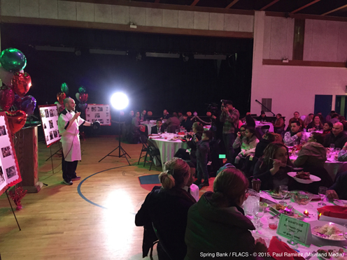 photo ~ Chef Bennett addresses guests ~ Paul Ramirez ~ 2015-02-27 ~ Spring Bank presents Healthy Hearts ~ sputnyc