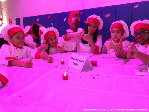 photo ~ thumbs up from the junior chefs ~ Paul Ramirez ~ 2015-02-27 ~ Spring Bank presents Healthy Hearts ~ sputnyc