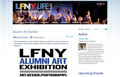 article ~ Alumni Art Exhibition ~ LFNY ~ 2012-08-28 ~ LFNY Life Blog ~ sputnyc