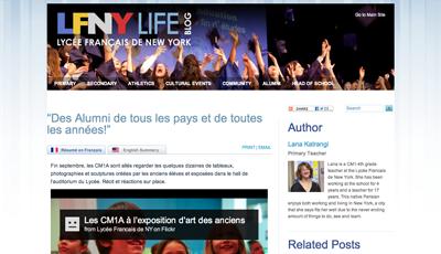 article ~ Des Alumni de tous les pays et de toutes les années! ~ LFNY ~ 2012-09-28 ~ LFNY Life Blog ~ sputnyc