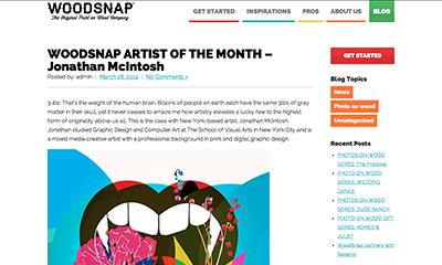 article ~ WoodSnap Artist of the Month - Jonathan McIntosh ~ WoodSnap ~ 2014-03-28 ~ WoodSnap Blog ~ sputnyc