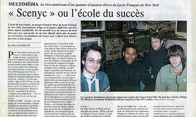 article ~ 'scenyc' ou l'école du succès ~ Maeva Bambuck ~ 2005-02-05 ~ France-Amérique ~ sputnyc