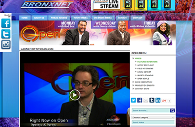 broadcast ~ Launch of NYCNAK ~ BronxNet ~ 2014-06-25 ~ BronxNet ~ sputnyc