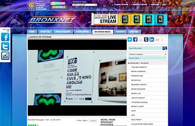broadcast ~ Launch of NYCNAK.com ~ BronxNet ~ 2014-07-29 ~ BronxNet ~ sputnyc