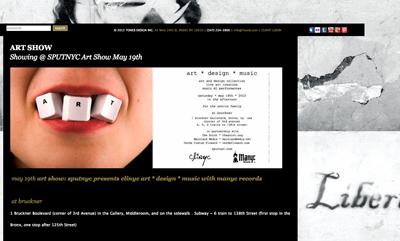 listing ~ ART SHOW ~ J.Guevara ~ 2012-05 ~ 7one8design.com ~ sputnyc