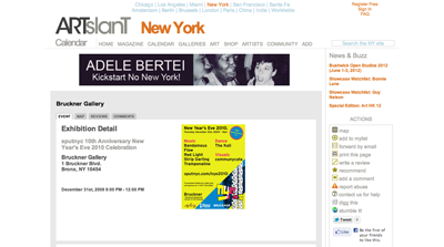 listing ~ sputnyc's 10th Anniversary New Year's Eve Celebration ~ staff ~ 2009-12 ~ ArtSlant ~ sputnyc