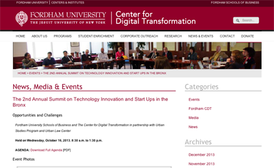 listing ~ Fordham Center for Digital Transformation ~ 2013-10-16 ~ Fordham Center for Digital Transformation ~ sputnyc