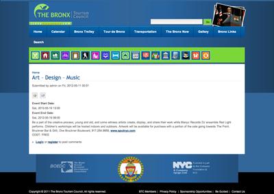 listing ~ Bronx Tourism Council ~ 2012-05 ~ ilovethebronx.com ~ sputnyc