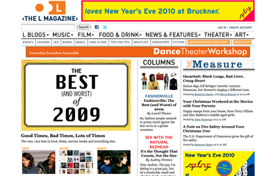 publication ~ The L Magazine loves New Year's Eve 2010 at Bruckner ~ us ~ 2009-12-28 ~ The L Magazine ~ sputnyc